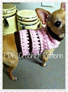 PDF Crochet Pattern  Criss Cross Dog Sweater  by CobosCloset, $4.99