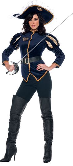 Ms. Charming Musketeer Adult Costume - Sexy Costumes