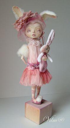 OOAK Art Doll My Sweet Bunny by VilmaDolls on Etsy - Created by Vilma Kiltinaviciene