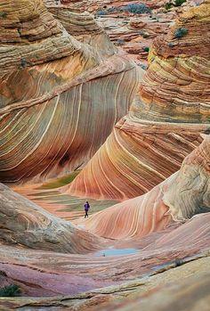Wave rocks, Arizona