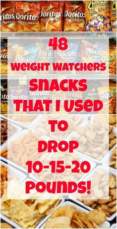 48 Weight Watchers Snacks ww snacks That I Used to Drop Pounds! Weight Watcher Desserts, Weight Watchers Snacks, Weight Watchers Tipps, Weight Watcher Dinners, Weight Watchers Smart Points, Weight Watchers Program, Weight Watchers Dip Recipe, Weight Watchers Products, Appetizers