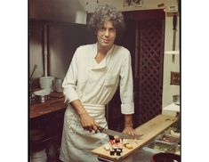 The fabulous Anthony Bourdain as a young cook via Bon Appetite Mag
