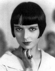 """Louise Brooks (1906 - 1985) Actress most famous for her role as Lulu in the silent movie """"Pandora's Box"""" and her bobbed hairstyle that became very popular. Born Mary Louise Brooks on November 14, 1906 in Cherryvale, Kansas."""