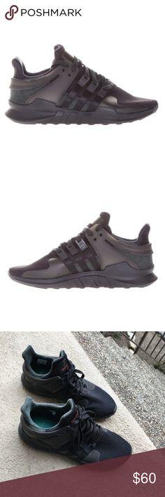 newest c31ad 92c63 Mens Adidas Equipment EQT Support Sneakers Black Mens Adidas Equipment EQT  Support Sneakers Black Size 10.5
