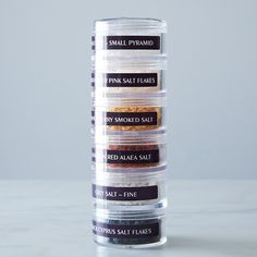 World Salt Tower on Provisions by Food52  This would be an awesome way to carry spices for camping