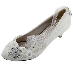Msmushroom White Wedding Shoes Mary Jane Flat Shoes,9M