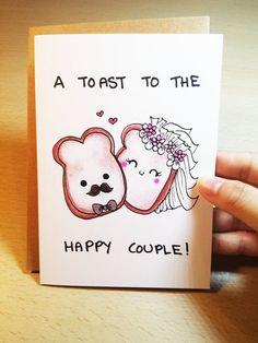 Wedding card funny Funny Wedding Card Wedding Congratulations card engagement