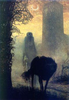 art, illustration, animal, wolf, ghost, skeleton, night, moon, creepy, lighting, //  Mystical