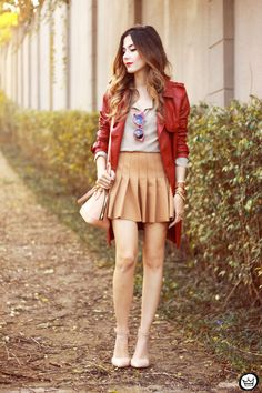 FashionCoolture - 13.07.2015 look du jour Amaro red and nude outfit (1)