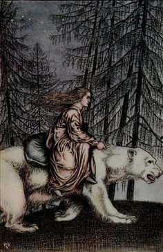 Nordic Thoughts: Peter Christen Asbjørnsen, Norse Fairy Tales/Tales from the Norse. Illustrations by Reginald L. Knowles and Horace J. 'Hold tight to my shaggy coat', said the bear. East Of The Sun, Art Sculpture, Fairytale Art, Children's Book Illustration, Book Illustrations, Norse Mythology, Street Art, Snow Queen, Faeries