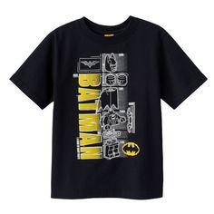 "Boys 4-7 LEGO DC Comics Batman ""A Hero of Many Parts"" Tee, Size: 5-6, Black"