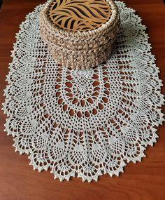 Oval light beige cotton crochet doily crochet home decor | Etsy