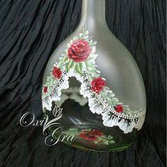 Butelka 0,7l, ręcznie malowana                   i serduszko do kompletu :)            Dziękuje za odwiedziny i każde słowo pozostawione p...