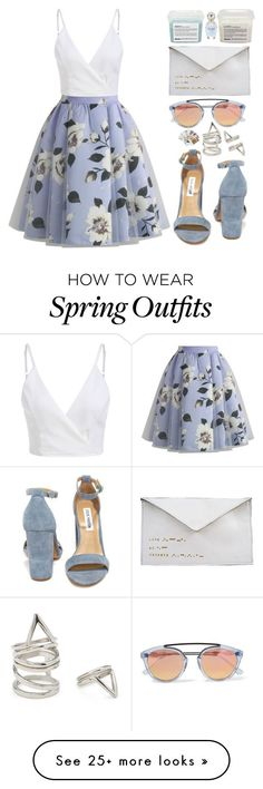 Tendance Chaussures  Spring Outfits Sets  Tendance & idée Chaussures Femme 2016/2017 Description In Progress by finding-0riginality on Polyvore featuring Westward Leaning Chicwish Davines Steve Madden Marc Jacobs Antoinette Lee Designs Forever 21 and Chronicle Books