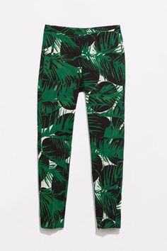 Pantalones tobilleros de corte recto de Zara