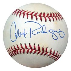 Alex Rodriguez Autographed AL Baseball 1995 Signature PSA/DNA #S42446 . $295.00. This is an Official American League baseball that has been hand signed by Alex Rodriguez. This autograph is certified authentic by PSA/DNA and comes with their sticker and matching certificate of authenticity.