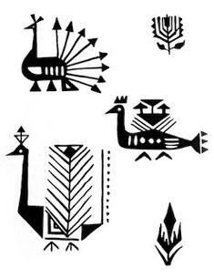 Indian Folk Designs: ~ Folk Designs from South India ~