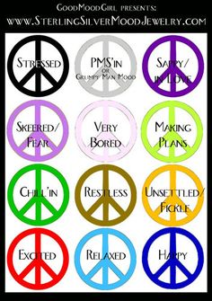 what do the colors of a mood necklace mean - Google Search | stuff ...