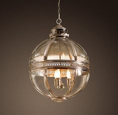 Victorian Hotel Pendant in Polished Nickel, Restoration Hardware.