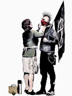 Mama And The Punk Son: Banksy.