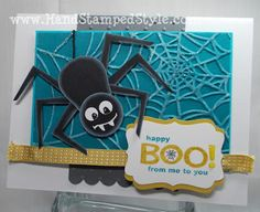Owl Punch Art Spider Card