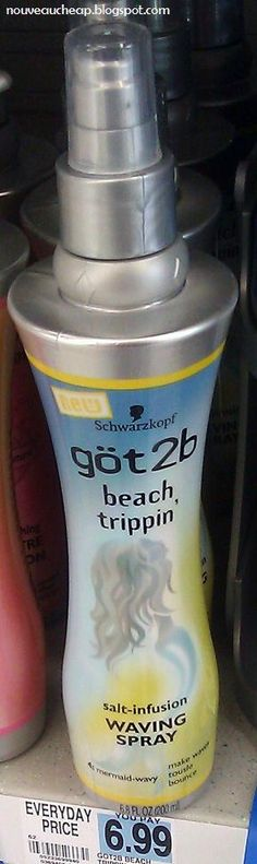New got2b Beach Trippin' Salt-Infusion Waving Spray. You don't have to scrunch and doesn't make hair crunchy. Say hello to mermaid hair Jamaica!!!