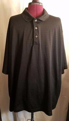 George Golf Men's 3 XL Black short sleeve shirt 54/56 #GeorgeGolf