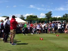@ronanofficial hits his tee shot into the final green #CelebCup
