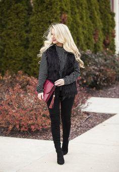 Kim Faux Fur Vest #JessLeaBoutique #JessLeaBlogger