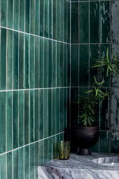Mandarin Stone, Small Bathroom, Green Bathroom Tiles, Moroccan Bathroom, Family Bathroom, Kitchen Tiles, Downstairs Toilet, Outdoor Tiles, Raku Pottery