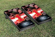 Jamie McMurray Cornhole Boards - NASCAR #1 Racing Flag Version