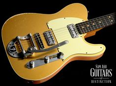 Fender Custom Shop Double TV Jones Relic Telecaster Electric Guitar with Bigsby (Gold, SN:R71724)