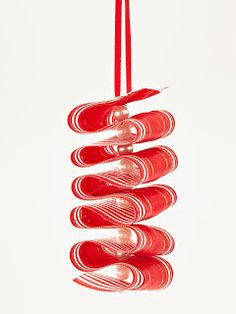 So making these! Ribbon Candy Twist Ornament Wow family and friends with these handcrafted retro ornaments that resemble ribbon candy. Learn more about this project. Easy Christmas Ornaments, Noel Christmas, How To Make Ornaments, Homemade Christmas, Simple Christmas, Christmas Ribbon, Handmade Ornaments, Christmas Decorations, Christmas Wrapping