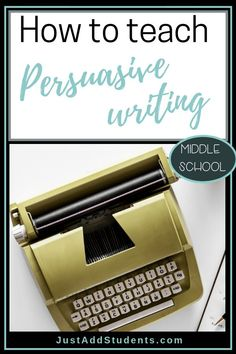 Ready to teach persuasive writing?  Here are steps that will take your students from understanding the genre to writing their own persuasive text.  Ideas for writing workshop -- step-by-step lessons, and free support to get you started!  #lessonplans #writing #middleschool