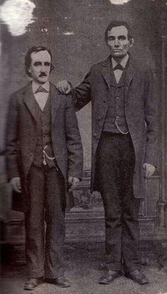 Edgar Allen Poe and Abraham Lincoln