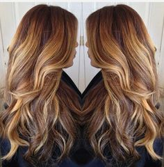 A touch of honey blonde highlights