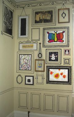 I intend to do something like this in our future house so that our children can have 3-5 designated frames and display their art in the house.