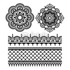 Konfiguracja fototapety Indyjski Henna tatuaż okrągłe design ...