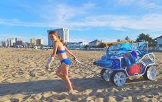 Sport Wagon - beach cart cruising on the sand