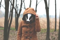 Badger? #mask #forest