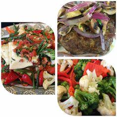 Cheese Ravioli Primavera, Lamb Burger topped with Mushrooms & Red Onion, and Fresh Steamed Vegetables. Lamb Burgers, Cheese Ravioli, Steamed Vegetables, I Love Food, Onion, Stuffed Mushrooms, Beef, Fresh, Ethnic Recipes