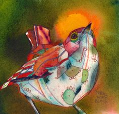The artist owns Bright Rain Gallery in Albuquerque.  He gave us one of his birds.
