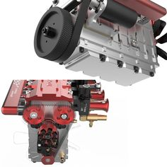 TOYAN FS-L400 14cc Inline 4 Cylinder Four-stroke Water-cooled Nitro En - EngineDIY Nitro Engine, Gasoline Engine, Rc Model, Model Car, Gear Pump, Water Cooling, Metal Models, Inline, Pulley
