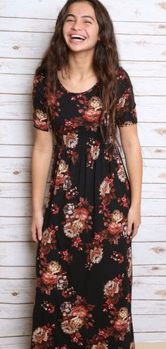Comfortable, modest, soft  and stretchy material, the Miranda Maxi Dress is stylish, on point, and gorgeous!!