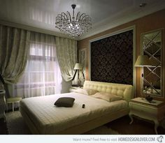 Art Deco Bedroom Interior~ That Mirror !