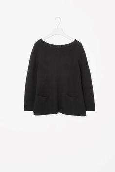 COS image 2 of A-line knit jumper in Black