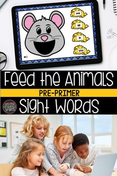 Practice sight words digitally with Boom Cards! Students will enjoy feeding the animals as they practice reading pre-primer sight words. Sound autoplays on each card instructing the player to feed the animal a given sight word. The player then drags and drops the food item with the correct word into the animal's mouth and submits the answer. Self-checking, fun digital practice for high frequency words for school or at home! Great for virtual classrooms too! Teaching Second Grade, Second Grade Teacher, 2nd Grade Classroom, Teaching Vocabulary, Teaching Phonics, Teaching Kindergarten, Word Work Games, Pre Primer Sight Words, Common Core Ela