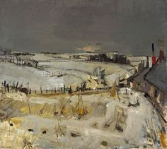 Joan Eardley ( 1921 - Summer Grasses and Barley on the Clifftop The Wave Seascape . Contemporary Landscape, Abstract Landscape, Landscape Paintings, Painting Snow, Winter Painting, Gallery Of Modern Art, Art Gallery, Snow Art, Art Uk