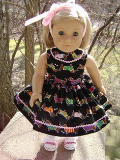 I Love My Dachshund Dress for 18 Inch Dolls Will by gofancynancy, $24.99
