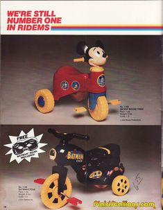 "Empire ""Mickey Mouse Trike"" and ""Batman Cycle"""
